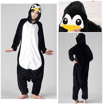dcaba47959d4 2019 Pengiun Unisex Adult Flannel Pajamas Adults Cosplay Cartoon Cute  Animal Onesies Sleepwear Suit Nightclothes Penguin From Dress wholesales