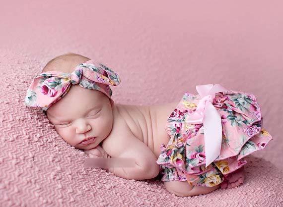 الصيف الساخن الرضع أطفال الصغار الطفل الأزهار المطبوعة القطن البنطلونات السراويل الفتيات pp السراويل + bowknot العصابة الأطفال وتتسابق 2 قطع مجموعات