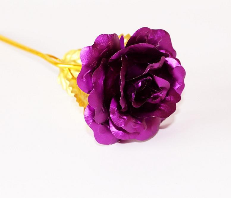 24 k Altın Varak Kaplama Gül Altın gül Düğün Dekorasyon Altın Gül Dekor Çiçek flores artificiales para decoracion DHL ücretsiz kargo