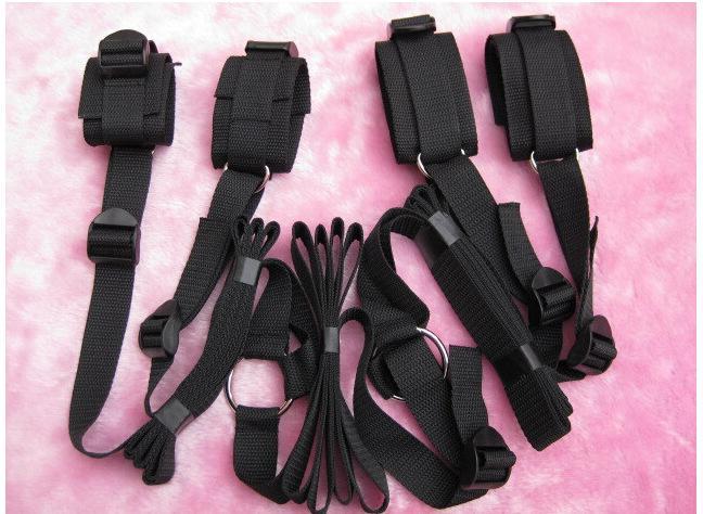 Bed Restraint System Pleasure Underbed Bondage Handcuffs Leg cuffs BDSM Slave Femdom Wrist Ankle Belt Secret Shackles Doss Strap sex Tools