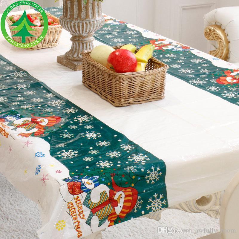 baskets pour pas cher c1c34 901db 51 pcs Nappe Jetable De Noël Festive Rectangle Tissu De Table Xmas  Vaisselle À Manger Outils De Cuisine New Year Party Table Covers