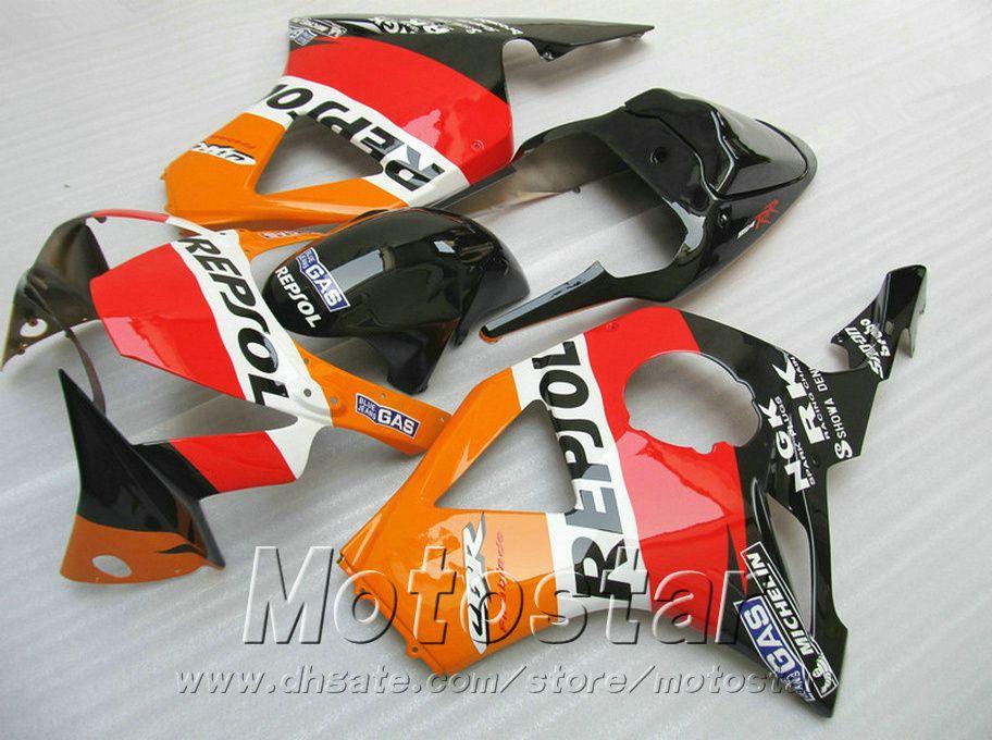 Set motobike stampaggio a iniezione carene Honda cbr900rr 954 2002 2003 CBR900 RR rosso arancio Kit carena REPSOL ABS CBR954 02 03 YR61