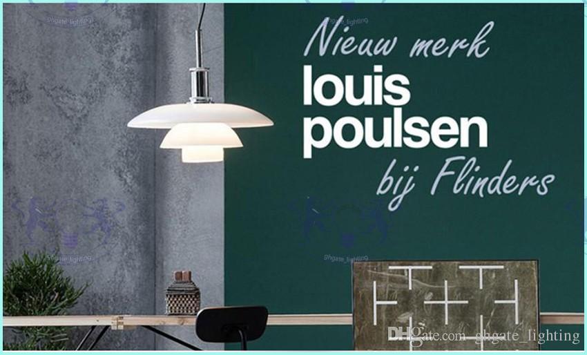 2017 년 전구 무료 루이 Poulsen PH 유백색 유리 3 층 펜던트 조명 덴마크 디자인 서스펜션 램프 무료 배송