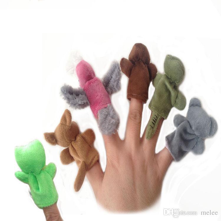 أستراليا 6 الحيوانات فنجر الدمى لينة أفخم القطيفة الحيوان اليد الدمى الاطفال القماش الحيوان الاصبع دمية اللعب مرحلة ما قبل المدرسة رياض الأطفال