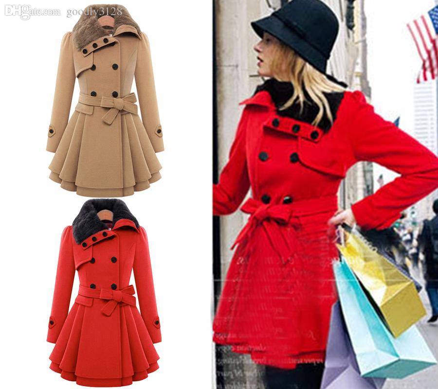 11064bd358114 Wholesale-Fluffy Fuzzy Coat For Women Shearling Shaggy Faux Fur ...