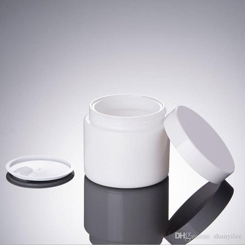 100G beyaz cam Kavanoz, kozmetik cam şişe, beyaz kap hızlı kargo F20172380 ile makyaj krem şişesi