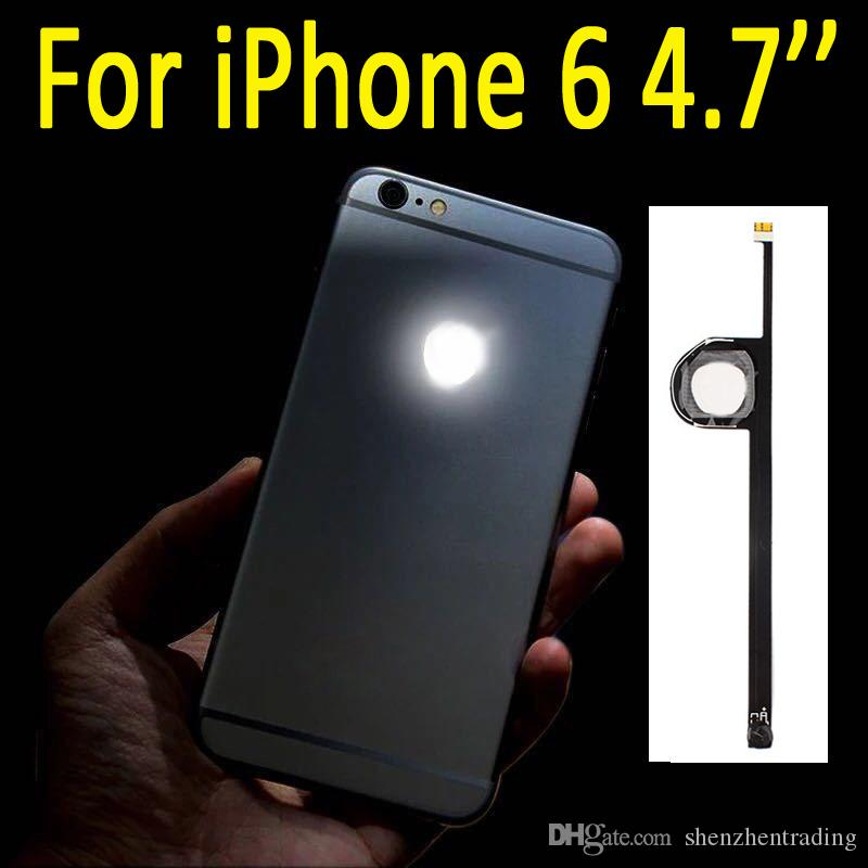 For iPhone 6 LED Logo DIY Luminescent LED Light Glowing Logo Mod Panel Kit  For iphone6 4 7inch Back Housing DHL Free Shipping