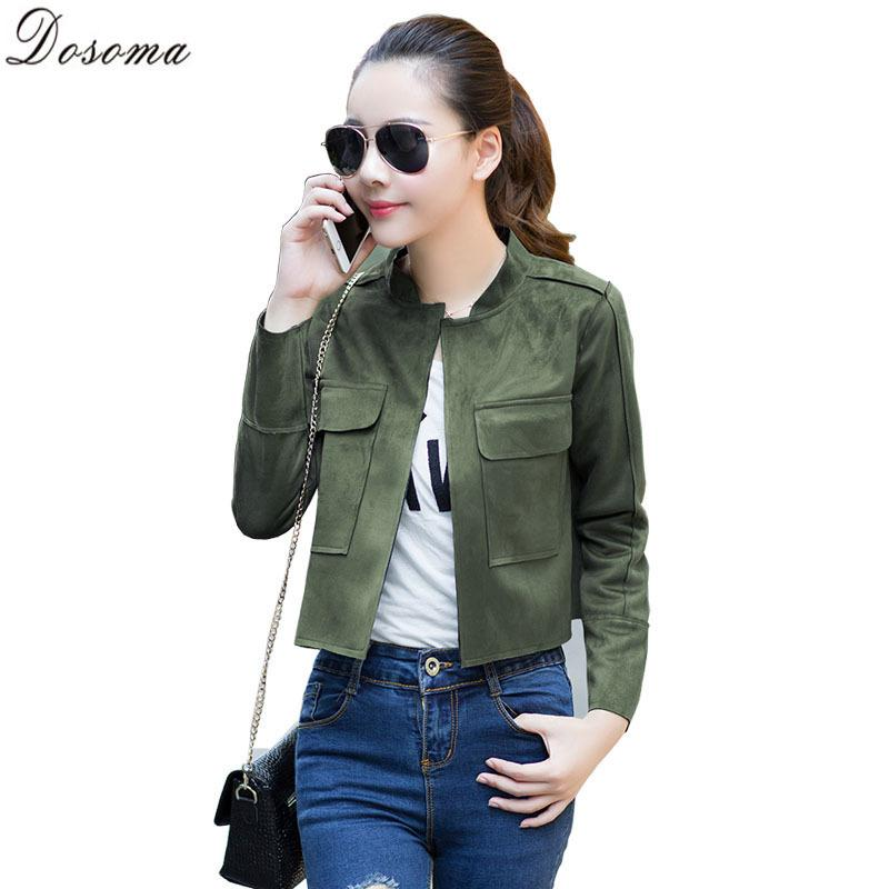 2015 Women'S Faux Suede Jacket Plus Size Long Sleeve Army Green ...
