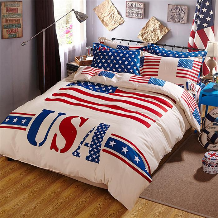 New American Flag Bedding Bed Cover And Comforters Cotton
