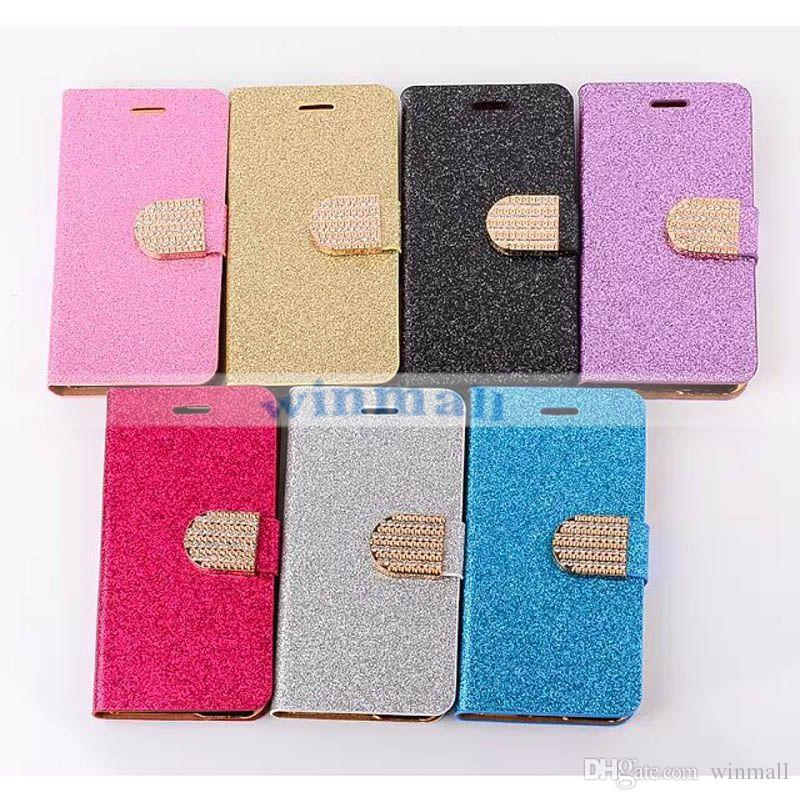 """For iPhone 6 Luxury Glitter Bling Diamond Leather Flip Wallet case with stand Card Holder for iphone 6 4.7"""" iphone 6 Plus 5.5"""" 4/4s 5/5s"""