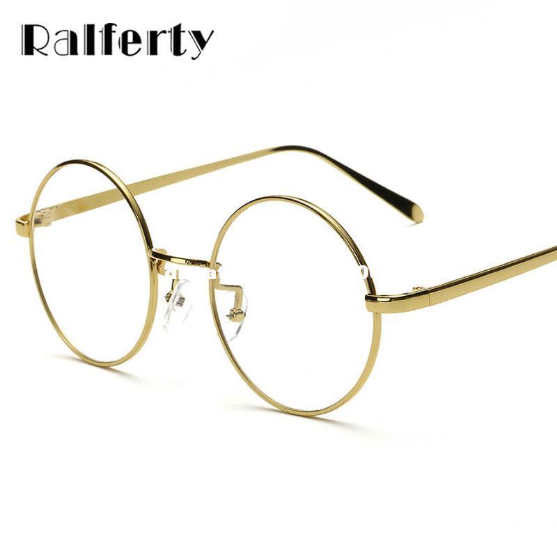 Ralferty Oversized Korean Round Glasses Frame Clear Lens Women Men ...