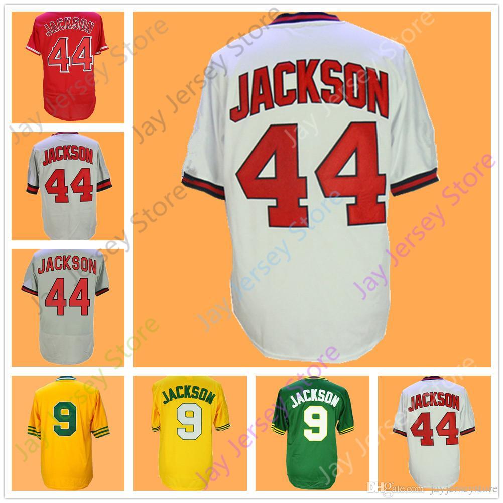 ec9b81b53 Reggie Jackson Jersey Vintage Cooperstwon New York Oakland LA Home Away  White Grey Yellow Green Pullover Reggie Jackson Jersey Online with   23.94 Piece on ...