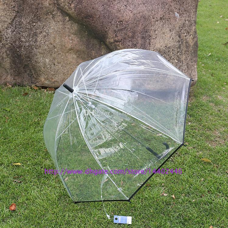 Apollo fashion pretty clear umbrella transparent colorful trim Dome shape , free DHL ship