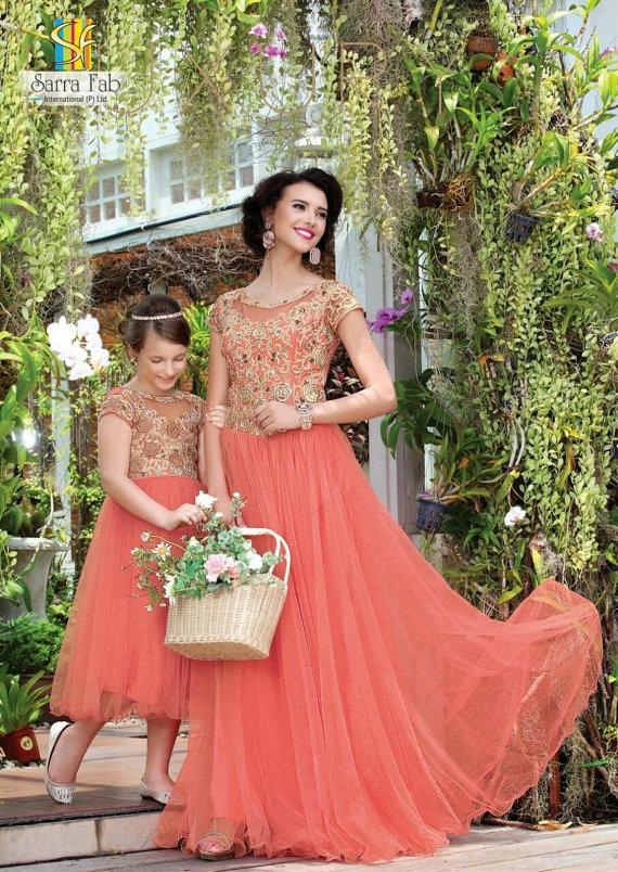 2015 mother and daughter dresses designer long evening for Mother daughter dresses for weddings
