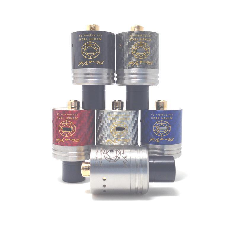 Karbon Fiber Plume peçe Plumveil Erik Peçe RDA Atomizör 5 Renkler Cabron Fiber Şövalye ve Fuhattan Için DHL Ücretsiz Kargo