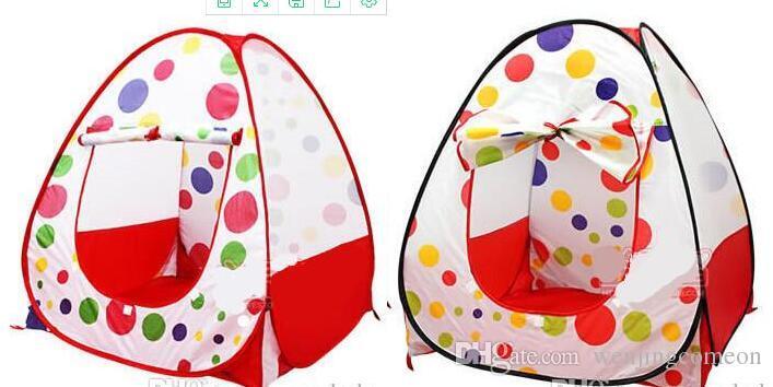 Tende da gioco bambini Tende da giardino esterni Tenda da campeggio portatile pieghevole IndoorOutdoor Pop Up Casa indipendente multicolor