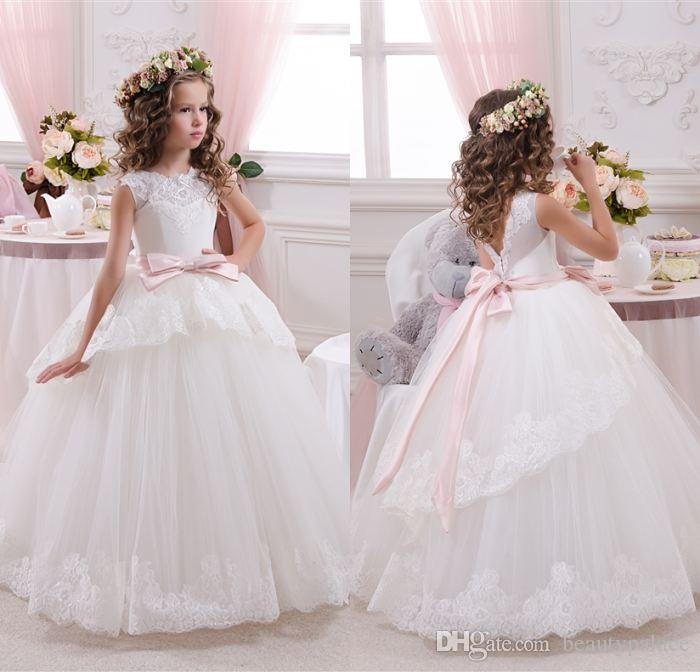 Off Shoulder Lace Ball Gown Net Baby Girl Birthday Party Christmas ...