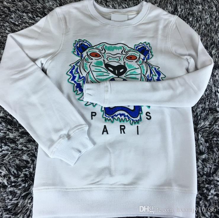 Hot European Brand Tiger Head Embroidered Men Women Sweatshirts