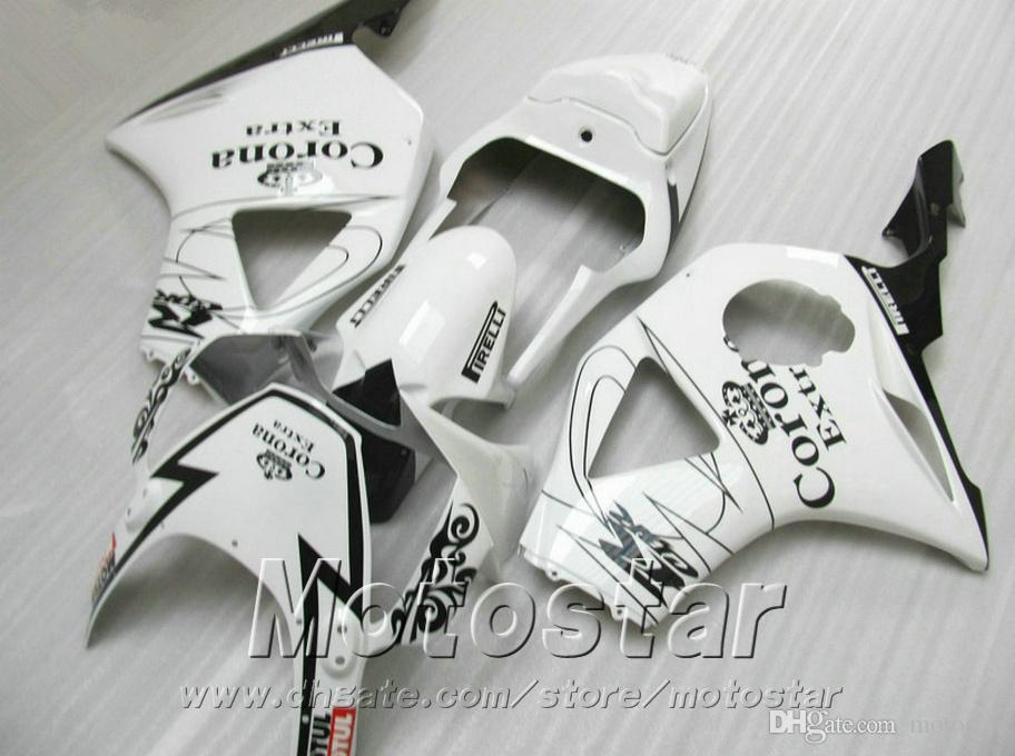 Kit carena personalizzabile Honda Injection moulding cbr900rr carenature 954 2002 2003 CBR 900RR nero bianco Corona set CBR954 02 03 YR60