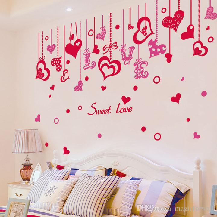 الحلو الحب اقتباس الحائط صائق ملصق bracketplant القلب جدار الفن زين المشارك رومانسية الحب القلب الجرافيك ديكور جدارية