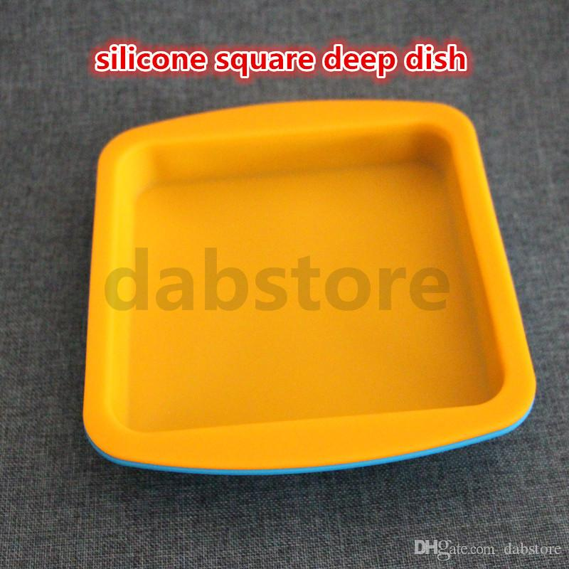 wholesale New Round and square shape Food grade silicone deep dish container,Silicone deep dish container for Food/Fruit/wax