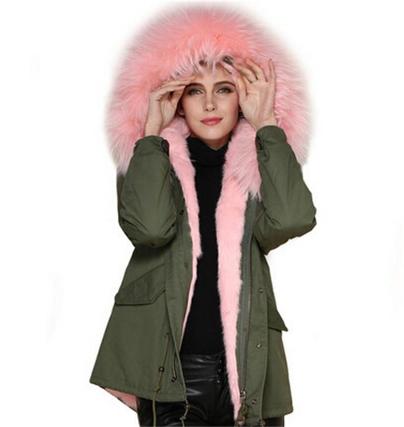 Online Cheap Real Fur Coat 2015 Winter Black Blue Brown Pink Red ...