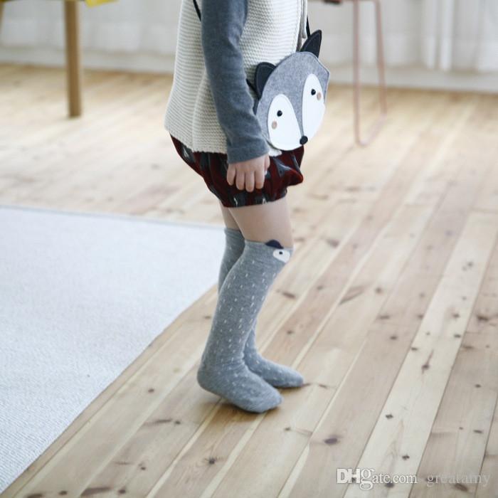 Phantasie Designer Beinlinge Kawaii Cartoon Fox Socken Marke Baby Jungen Mädchen Legging Protektoren Für Kinder Knieschützer Beinlinge