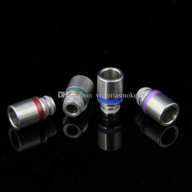 Hot Sale Stainless Steel & Acrylic Drip Tip Wide Bore Drip Tips Stainless Steel Drip Tip for 510 EGO CE4 Vivi Nova E Cig Tanks Atomizer