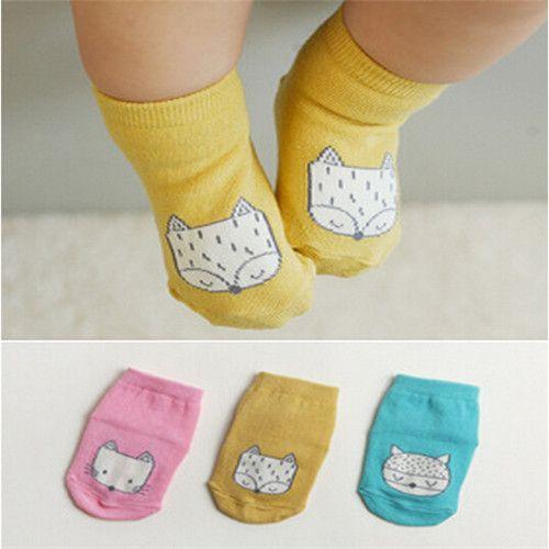 Cotton Newborn Baby Socks Cute Fox Socks Girls Cotton