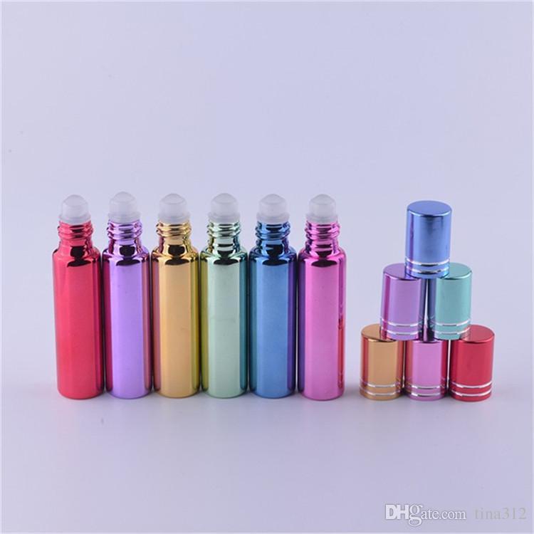 جودة عالية 10 مل المحمولة السفر subpackage زجاجة مستحضرات التجميل مستحلب زجاجة عطر زجاجة إعادة الملء الزجاج الملون FA508