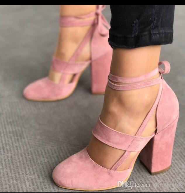 Fashion Female Ankle Strap High Heels