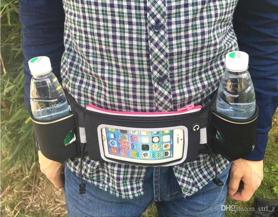 Riñonera Riñonera Riñonera Riñonera para iPhone Riñonera Puñal Riñonera Riñonera funda para teléfono móvil con 2 portabotellas