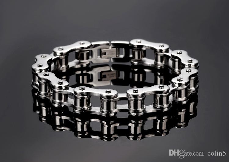 Bijoux en métal pour hommes Chaîne de vélo 316 en acier inoxydable Bracelet Bracelets Bijoux pour hommes Braccialetto