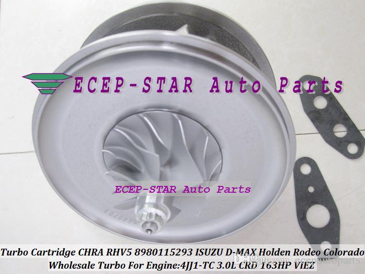Turbo Cartridge CHRA RHV5 VDD30013 VBD30013 8980115293 8980115295  Turbocharger For ISUZU D-MAX Rodeo 3 0L CRD 07- 4JJ1-TC 163HP