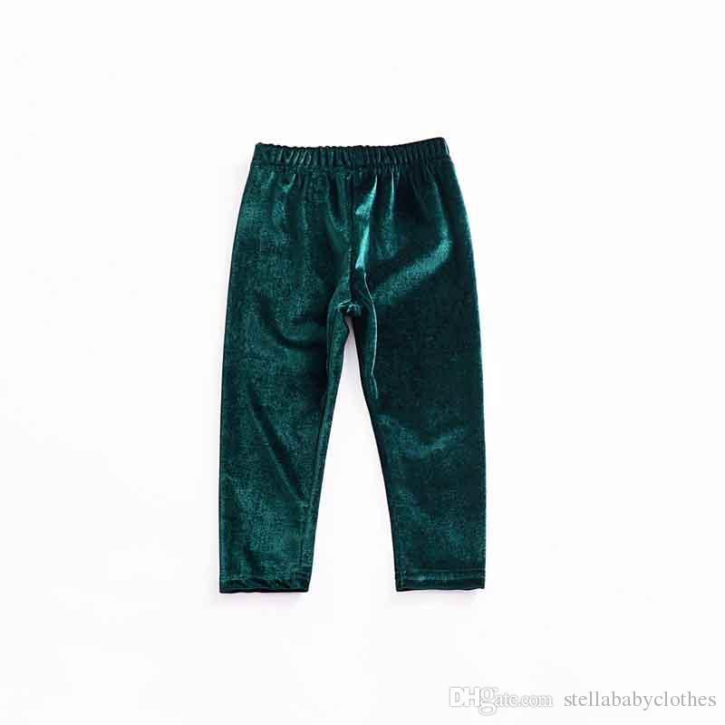 2018 Yeni Stil Pleuche Kadife Kız Pantolon Moda Yumuşak Sıska Çocuk Pantolon Fit 1-4 T Bebek Erkek Kız Pantolon
