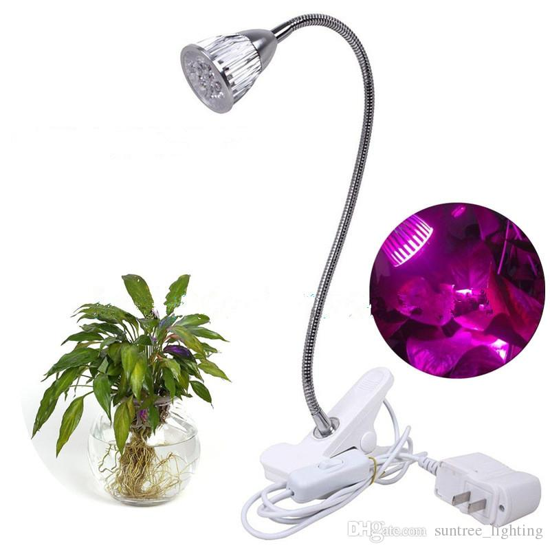 Led Grow Light 5w Full Spectrum Led Clip On Desktop Grow Lamp Clamp  Flexible Gooseneck For Garden Greenhouse And Hydroponic Heat Lamps For  Plants Led Grow ...