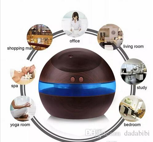 Ultrasonic Humidifier Aroma Diffuser Diffuser mist maker with LED Light 300ml USB