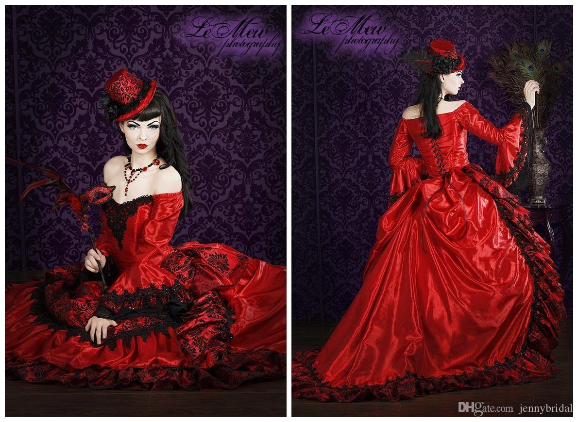 Best Selling Green Red Blue Lolita Quinceanera Dresses Black Lace In ...