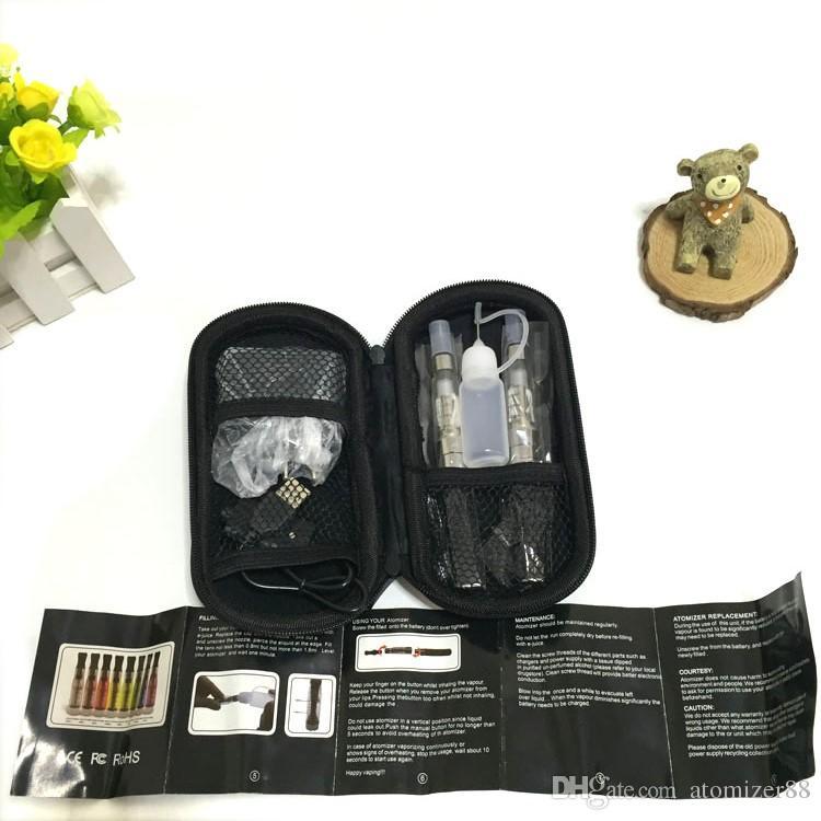 Ego-t double starter kits electronic cigarette ego CE4 510 battery e cigarette vape pen vaporizer for e liquid ce4 tank smoking vape mod