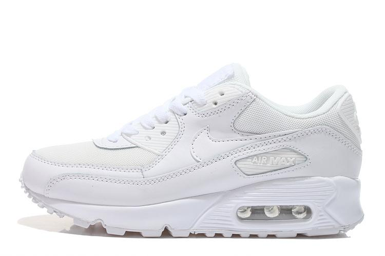 Nike Air Max 90 All White women's Tennis shoes