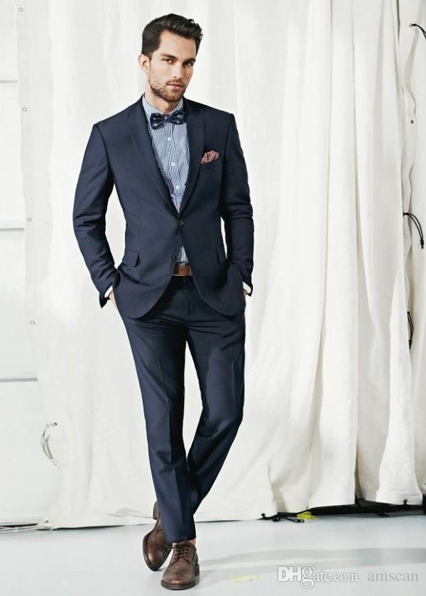 Custom Made Handsome Mens Suit New Fashion Two Buttons Groom ...