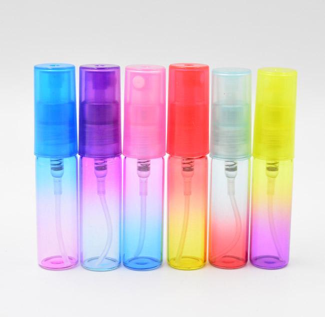 Flaconi di profumo dello spruzzo dell'atomizzatore di colore 5ML 1 / 6oz all'ingrosso, bottiglie di vetro, bottiglie del campione DA DHL liberano il trasporto
