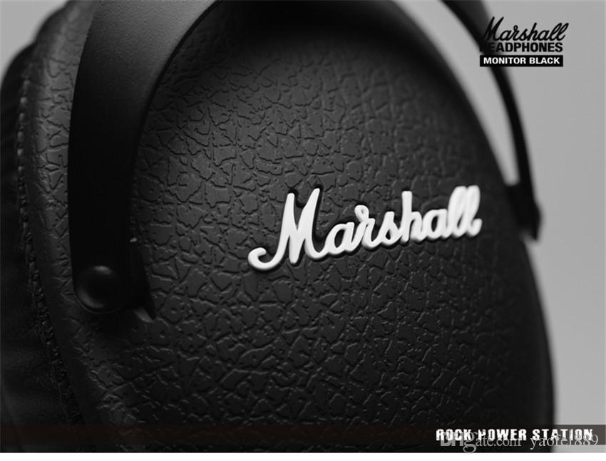 Marshall MONITOR Over-Ear Headphones w/ Microphone - Black Portable rock HIFI Noise Cancelling headset can change line ladle M-ACCS-00152