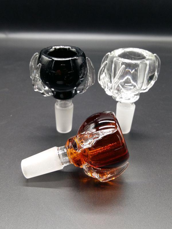 물 담뱃대 액세서리 유리 봉 그릇 유리 물 파이프 그릇 흡연 유리 그릇 남성 14mm 18mm 무료 배송 최신 공장 가격