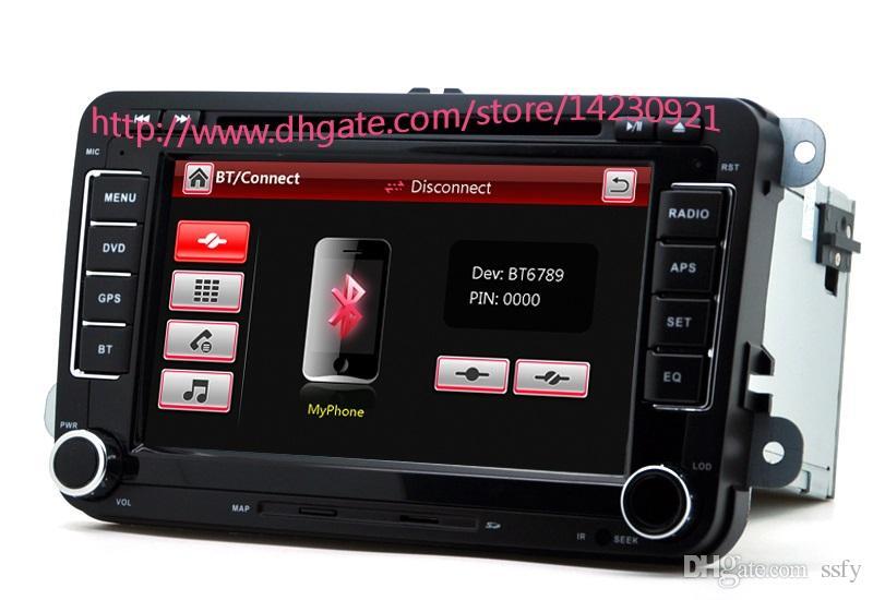 ¡Venta al por mayor! 2 Din Reproductor de DVD de 7 pulgadas para VW / Volkswagen / Passat / POLO / GOLF / Skoda / Asiento con 3G USB GPS BT IPOD FM RDS gratis