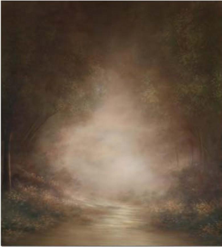 Atacado personalizado floresta natural nevoeiro cenários de fotografia cênica câmera estúdio digital fundo do vinil pano de fundo para o bebê fotos adereços