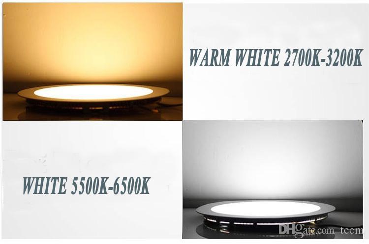 9W ضوء 12W 15W 18W 21W 25W لوحة LED راحة مصباح الدافئة جولة الصرفة كول أضواء داخلية الأبيض بقيادة 85-265V بقيادة سائق 50