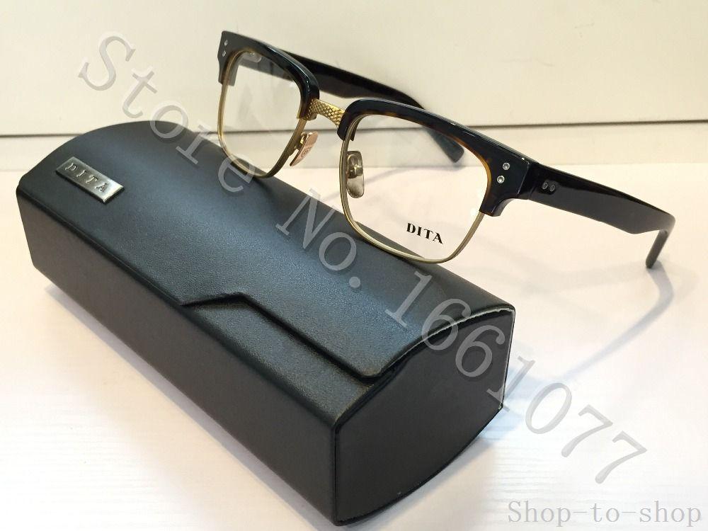00df0fdc9a67 Eyeglasses DITA STATESMAN THREE Men Brand Designer Retro Vintage Summer  Style Gold Optical Glasses Top Quality Sunglasses Uk Polarised Sunglasses  From Shop ...
