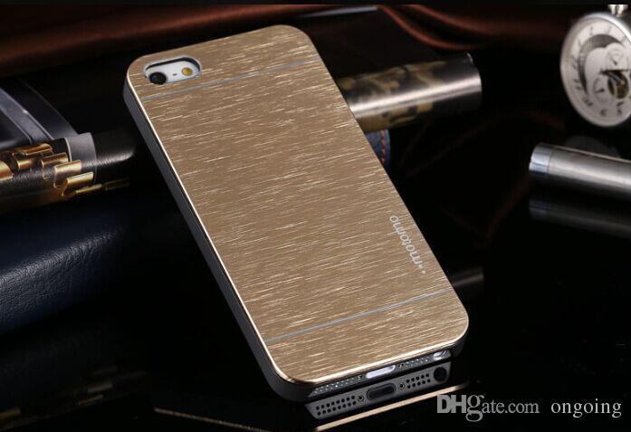 Yeni gelen!!! Lüks Ultra ince Motomo Fırçalı Fırça Alüminyum Metal Slate Hard Case Arka Kapak iphone 6 4.7 inç iphone 6 artı için
