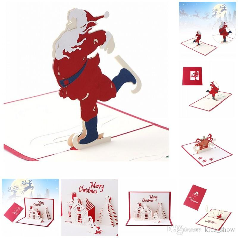 handmade christmas card 3d pop up greeting card christmas bell party